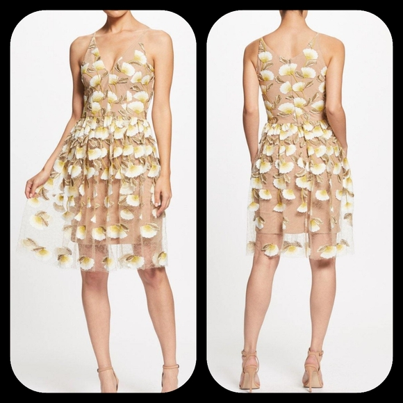 Dress the Population Dresses & Skirts - Dress The Population Betsy Womens Floral V-Neck Co